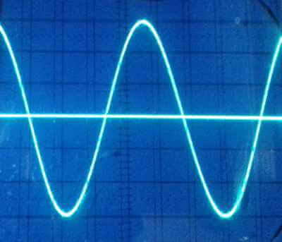 ad9833 sine wave 1kHz on oscilloscope