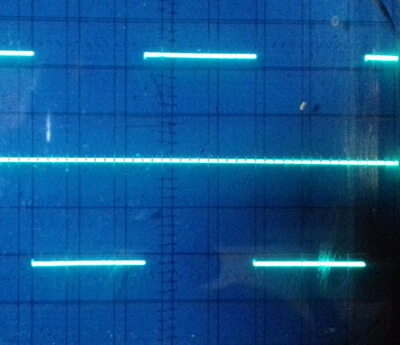 ad9833 square wave 1kHz on oscilloscope