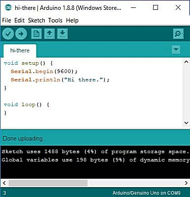 Arduino IDE uploaded