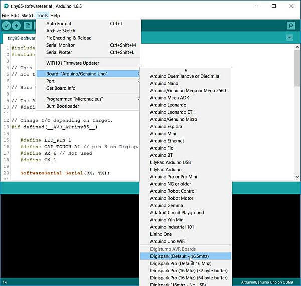 Digispark Attiny85 Easy IDE install and setup