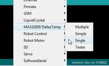 How to use a DS18B20 on the Arduino for easy temperature
