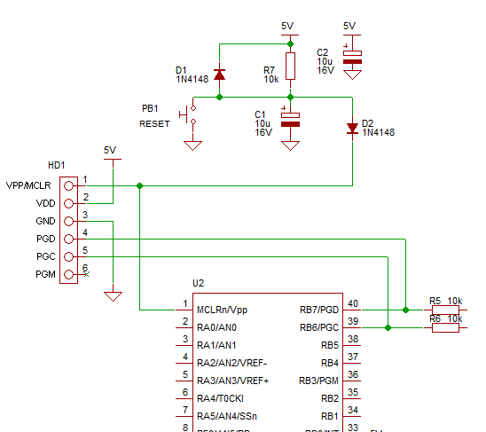 pickit 2 schematic with Pic Icsp on Usingmplabx together with Cannot Get Pic To  municate With Mplab in addition Ac Generator Avr Circuit Diagram likewise Lab LED Blink likewise Pic Icsp.