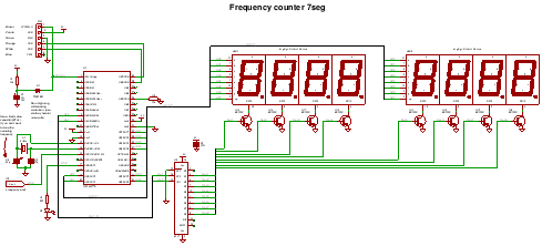 7segment display frequency counter