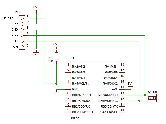 PIC ICSP In Circuit Serial Programming