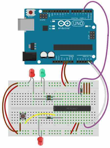 How to use the mcp i o expander on arduino