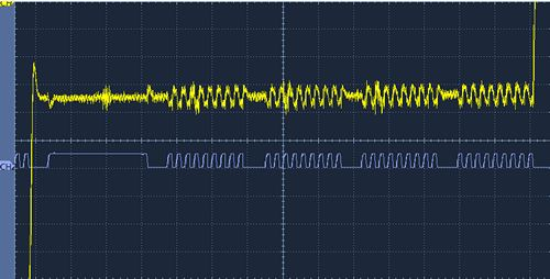 mcp4725 output noise with i2c command
