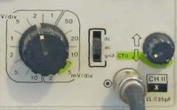 oscilloscope input channel