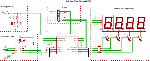 Ds1307 Circuit Diagram | A Real Time Clock Design Ds1307 With A Pic Microcontroller
