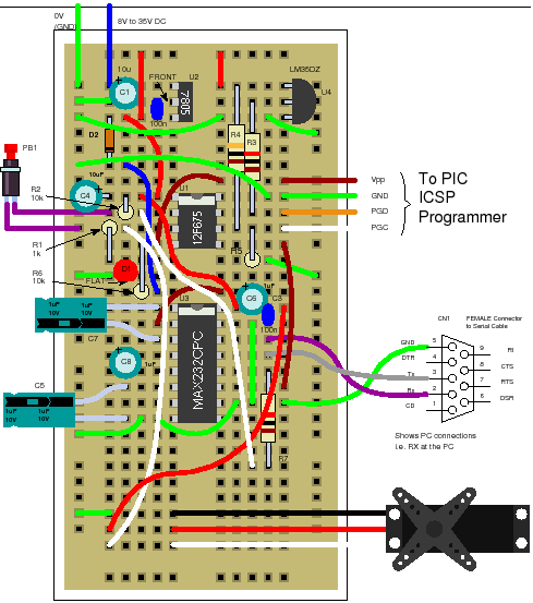 12f675 tutorial 7 a pic based servo controller for Motor control wiring training