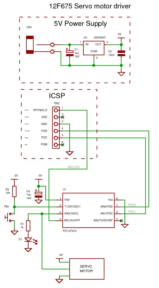 Incredible 12F675 Tutorial 6 Driving A Servo Motor Using A Pic Micro Wiring Digital Resources Remcakbiperorg