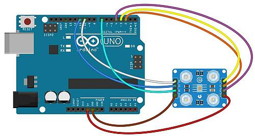 tcs230 connections to Arduino