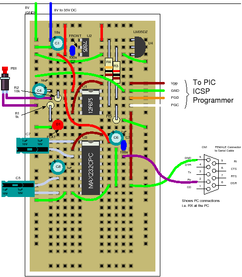 12f675 tutorial 4 making an lm35 temperature recorder rh best microcontroller projects com Temperature Probe Schematic simple temperature sensor circuit diagram using lm35