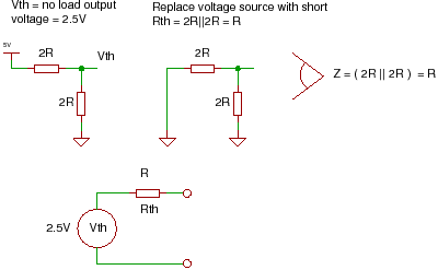 how an r 2r ladder works and why you need one RC Circuit short circuits and all current sources with open circuits calculate the resistance looking into the port for the th�venin resistance rth for the
